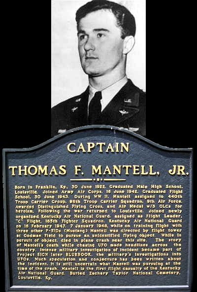 Remembering Capt. Thomas F. Mantell Jr. Who Died While Chasing a UFO